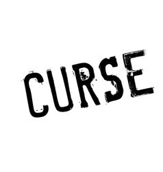 Curse rubber stamp vector