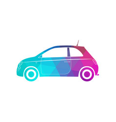 Colorful modern car silhouette polygon style vector