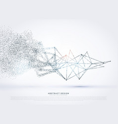 Abstract wireframe poly mesh network fading in vector