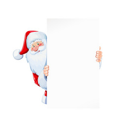 Santa claus hold sheet vector