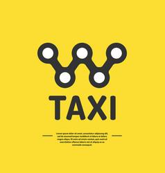 Logo for a taxi company vector