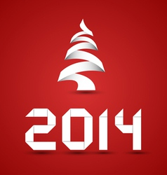 Red New 2014 Year Background vector image