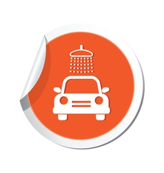 Car wash simbol orange tag vector