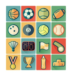 Flat icons sport vector