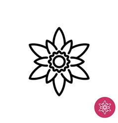 Lotus flower symbol vector image