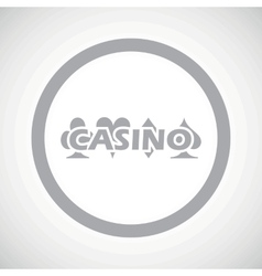 Grey casino sign icon vector