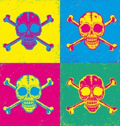 Skull pop art vector