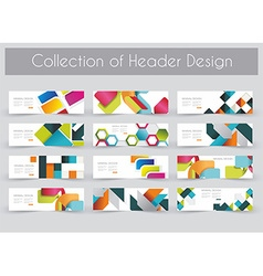 Mega pac kheader design template set vector