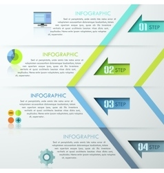 Modern infographic numbered template vector