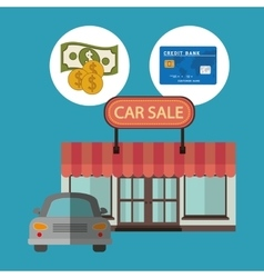 Car sale design vector