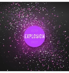 Outer space exlosion effect confetti vector