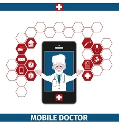 Mobile healthcare services vector