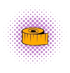 Measuring tape icon comics style vector