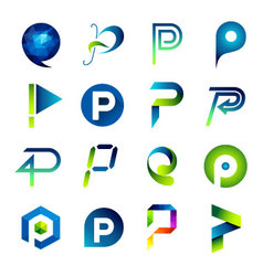 Icon design based on letter p vector