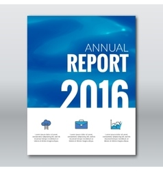 Cover annual report business colorful water vector