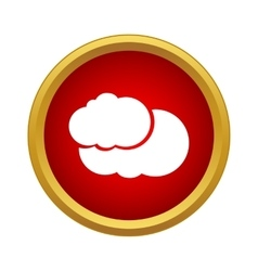 Two clouds icon simple style vector