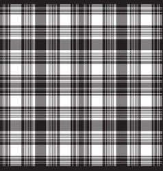 Black check fabric texture seamless pattern vector
