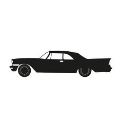 Black silhouette of a retro car vector image vector image