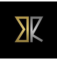 Br letters logo vector