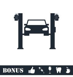 Car lifting icon flat vector