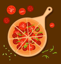 Colorful italian pizza concept vector