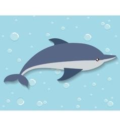 Dolphin icon sea animal cartoon graphic vector