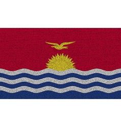 Flags Kiribati on denim texture vector image