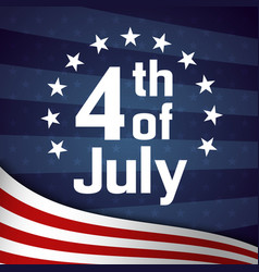 Fourth of july retro poster template vector