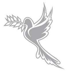 golub znak sivi vector image