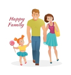 Happy family with cheerful smile vector image vector image
