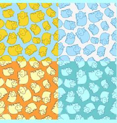 Hippo seamless pattern vector