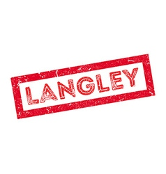 Langley rubber stamp vector