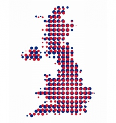 map of great britain vector image vector image