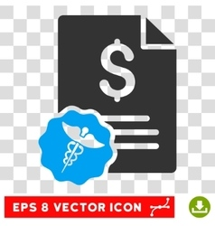 Medical invoice eps icon vector