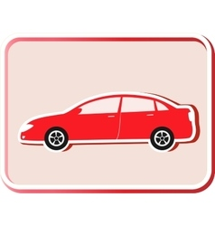 Modern car silhouette vector