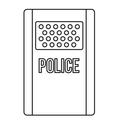 police icon outline style vector image vector image