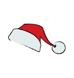 santa claus cartoon hat style symbol decoration vector image