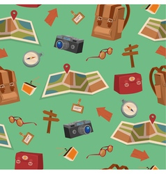 Seamless pattern with camping elements vector
