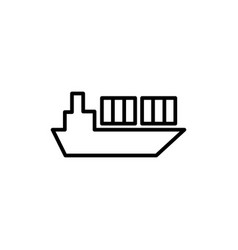 ship icon on white background vector image