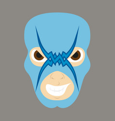 super hero in mask icon in flat style vector image