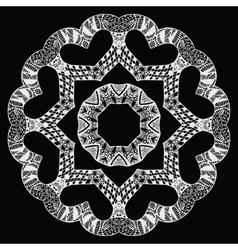 White futuristic round pattern on black vector