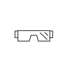 winter glasses icon vector image vector image
