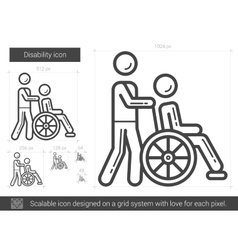 Disability line icon vector