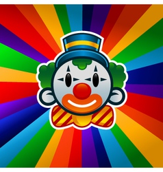 Colorful birthday clown vector