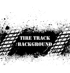 Tire track background on ink blots vector