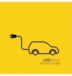 Icon of a hybrid car vector