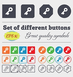 Key icon sign big set of colorful diverse vector