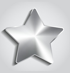 Metal star background vector