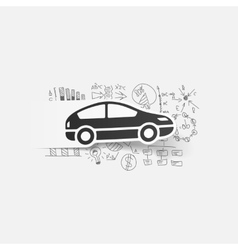 Drawing business formulas car vector