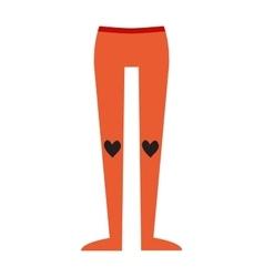 Female slim legs tights stocking fashion vector image
